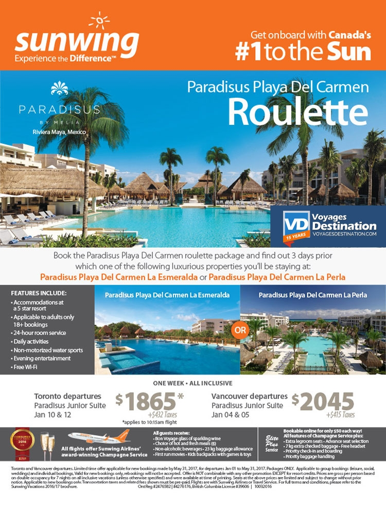 Roulette vacation sunquest