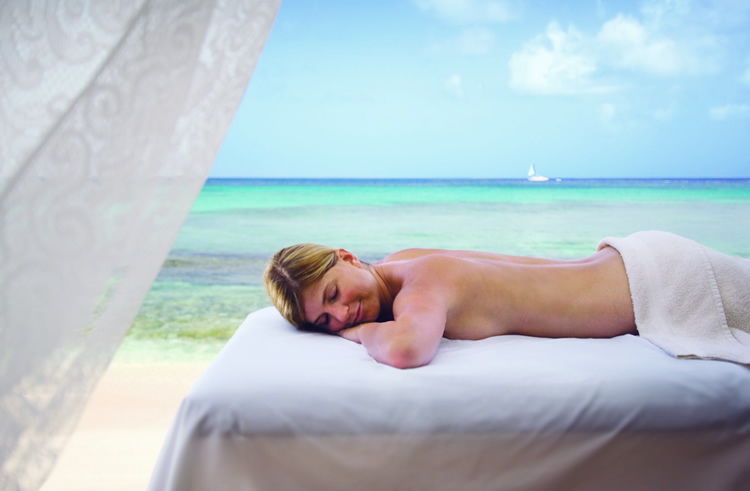 The Club Barbados Resort And Spa massage on beach