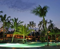 Blau Natura Park Beach Eco Resort Spa pool at night