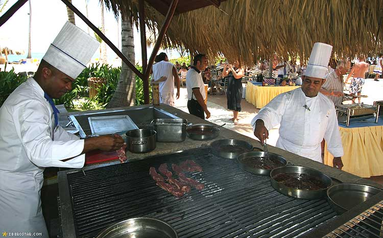 Iberostar Bavaro buffet de plage