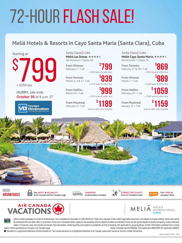 72 Hour Flash Sale Meli 225 Resorts In Cuba All Inclusive